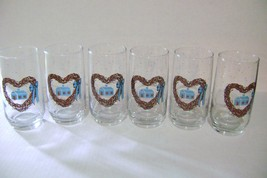 Anchor Hockings Homestead Heart Wreath Glasses - $12.00
