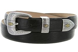Mesa Gold - Men's Italian Calfskin Designer Dress Golf Belt with Western Silv... - $29.20