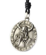Odin Ragnarok Asatru Viking Thor God Silver Pewter Charm Necklace Jewelry - £7.87 GBP