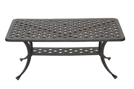 Heritage Outdoor Living Nassau Cast Aluminum Coffee Table - Antique Bronze - $375.21