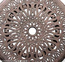 "Lazy Susan 24"" Turntable kitchen Dining Bar Cast Aluminum Desert Bronze image 2"