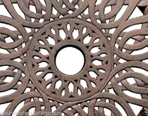 "Lazy Susan 24"" Turntable kitchen Dining Bar Cast Aluminum Desert Bronze image 4"