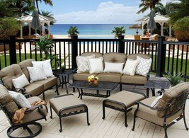 CONVERSATION SET ELISABETH OUTDOOR PATIO 9PC DEEP SEATING SET - $3,872.88