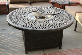 "Outdoor 52"" Cast Aluminum Firepit Backyard Patio Garden Fire Pit with En... - $1,409.76"