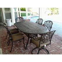 7PC Eli OUTDOOR PATIO DINING SET 42 X 72 OVAL TABLE SERIES 2000 - ANTIQU... - $2,633.40