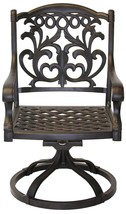 Patio chairs outdoor Cast Aluminum swivel rocker Flamingo Antique Bronze Set 2 image 2