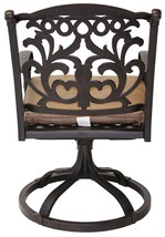 Patio chairs outdoor Cast Aluminum swivel rocker Flamingo Antique Bronze Set 2 image 3