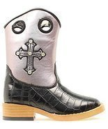 Blazin Roxx Toddler-Girls' Sonora Croc Print Zipper Cowgirl Boot Square ... - $52.44 CAD