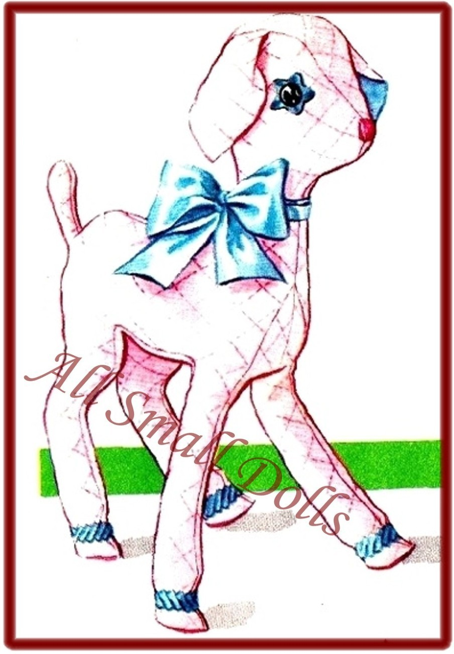 "Vintage Pattern for Stuffed Poodles 8 ""& 14""  Lamb 16"""