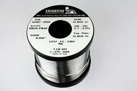 Indium 52487-0454 60/40 RA Wire Solder, 2.7-3.2% Core .050in. 1lb. - $24.45