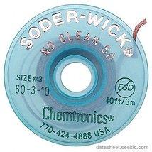 CHEMTRONICS 60-3-10 BRAID, DESOLDERING, NO CLEAN SD, 10FT (1 piece) - $10.43