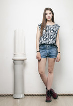 90s vintage crazy printed oversized tank top - $22.36