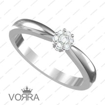 14k White Gold Plated 925 Silver Round Cut Diamond Gorgeous Flower Ring Size 8 - £29.70 GBP