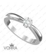 14k White Gold Plated 925 Silver Round Cut Diamond Gorgeous Flower Ring ... - £30.34 GBP