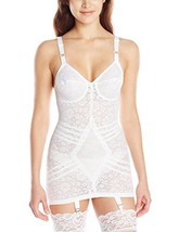 Rago Women's Extra Firm Open Bottom Body Shaper, White, 34C - $60.59