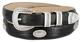 Black Mesa Italian Calfskin Leather Dress Concho Belt(LBlack,36) - $39.55