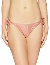Mae Women's Swimwear Olivia Pink Rose Shimmer Side Tie Bikini Bottom Lar... - $14.57