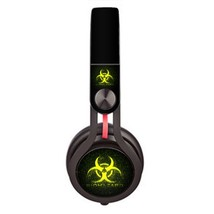 BioHazard design skin decal for Monster Beats Mixr by Dr. Dre headphones - $15.00