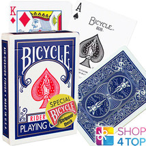 BICYCLE RIDER BACK STRIPPER CARDS DECK MAGIC TRICKS PLAYING POKER BLUE D... - $10.95