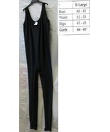 ADULT UNITARD BLACK SLEEVELES LADIES XLG FULL BODY SUIT - $55.00