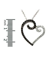 OPEN  PAVE HEART BLACK & WHITE CUBIC ZIRCONIA  ... - $24.74