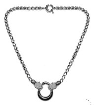 THE LOOK OF REAL PAVE PANTHER CLEAR CZ RHODIUM NECKLACE-BRIDAL - $89.09