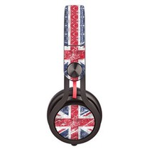 UK Flag Blurry design skin decal for Monster Beats Mixr by Dr. Dre headp... - $15.00