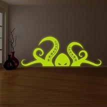 "( 94"" x 37"" ) Glowing Vinyl Wall Bath Decal Scarry Octopus Tentacle / Glow in... - $228.06"