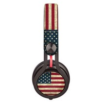 Blurry US Flag design skin decal for Monster Beats Mixr by Dr. Dre headp... - $15.00