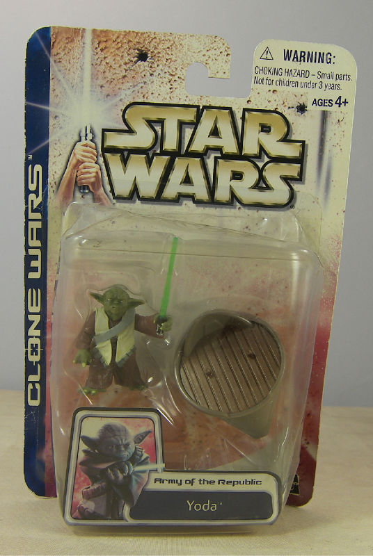 STAR WARS CLONE WARS ARMY of the REPUBLIC YODA FIGURE & HOVERCHAIR MOC 2003