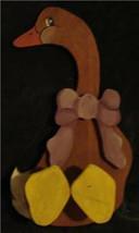 Nice Handmade Wooden Goose, VERY CUTE - $19.79
