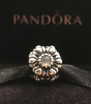 Authentic Pandora Birthday Bloom June Moonstone Sterling Silver Pandora ... - $35.99