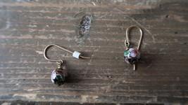 """1"""" Cloisonne Enamel Dangle Ball Earrings - $14.25"""