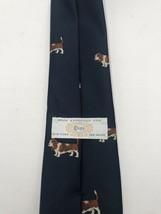 Vintage Navy Blue Men's Tie with Wire Basset Hound by Chipp of New York - $98.99