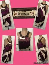 """NEW! Forever 21 Sleeveless Tunic Top """"Jeweled"""" Embellished Neck Size Large Multi - $9.89"""