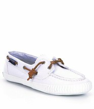 Sperry Top-Sider Sayel Away Washed White Canvas Women's Boat NEW Shoes S... - $46.71