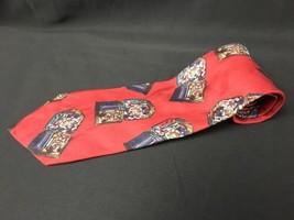 ADOLFO RED Candy SILK NECKTIE TIE Multi Color - $13.17