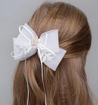 Cute Girl Bow Tie Hair Clip Hairpin White Wedding Flower Girl Hair Accessories  image 3