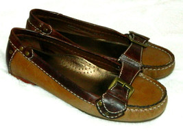 Cole Haan Nke Air Loafers Driving Flats Shoes Tan Brown Leather Womens 7 P - $35.63