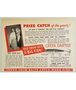 1947 Print Ad Creek Darter Fishing Lures Creek Chub Baits Garrett,IN - $9.28