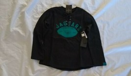 NFL Women's Jacksonville Jaguars Long Sleeve Half-lace Black Sweatshirt ... - $35.53