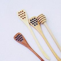 Honey Spoon 18cm Woody Stir Stick Long Handle Coffee Tone Stick Beehive ... - $30.99