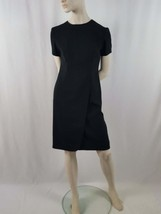 Career Women's Liz Claiborne Dress Sz 6, Black Polyester, S/S, Knee Leng... - $14.85