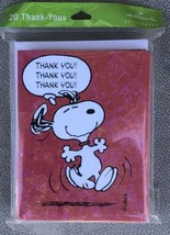 Snoopy Peanuts Thank you! Cards Hallmark Cards 20 Pack with Envelopes - New - $12.95