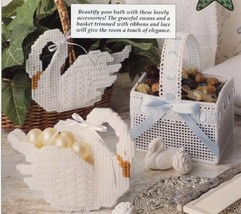 Bath Elegance Swan, Swan Dish & Basket Plastic Canvas PATTERN/INSTRUCTIO... - $1.41