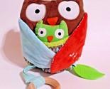 Big Infant Plush Sensory Owl Hug & Hide Activity Toy Treetop Friends Washable