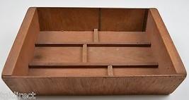 "Vintage Handmade Divided Storage Box 11"" Long Collectible Primitve Rusti... - $8.99"