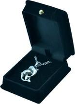 "Silver Dolphin Pendant w/20"" chain & black velvet display box - $149.99"