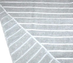 DKNY 1 pcs Striped Bath Towel, Color Light  Gray/White - $17.09