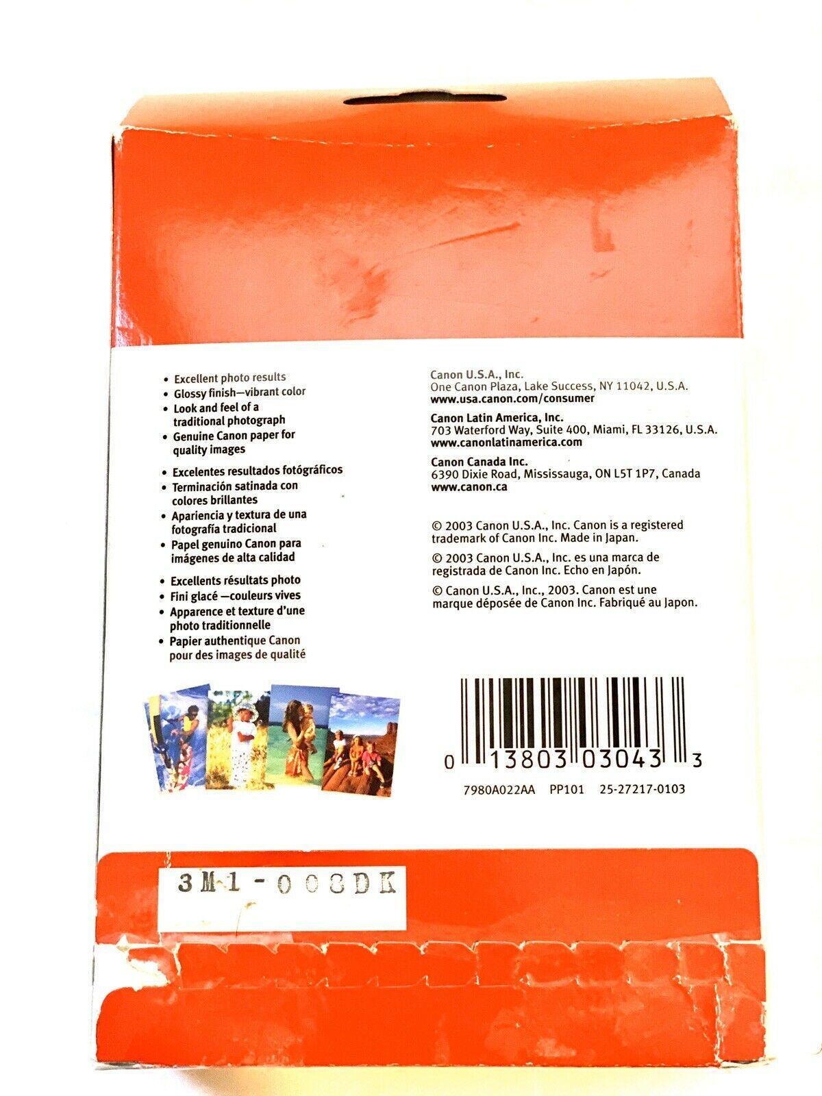 "Canon Photo Paper Plus Glossy 4x6""  Value BONUS Pack 120 Sheets - $14.84"